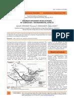 Sediment Movement Mode in Rivers of Uzbekistan - E