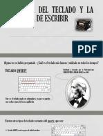 Historia Del Teclado y La Máquina de Escribir (1)
