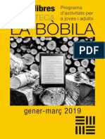 + QUE LLIBRES Biblioteca La Bòbila de L'Hospitalet  1r trimestre 2019
