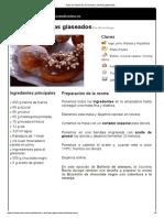 Hoja de Impresión de Donuts y Berlinas Glaseados