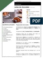 Hoja de Impresión de Croissant Con Puntas de Chocolate