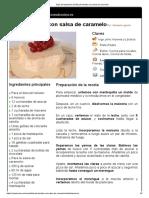 Hoja de Impresión de Biscuit Helado Con Salsa de Caramelo