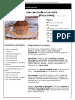 Hoja de Impresión de Cupcake Choco Con Crema de Chocolate (Cupcakes)