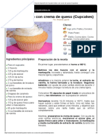 Hoja de Impresión de Cupcake Básico Con Crema de Queso (Cupcakes)