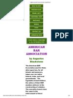 American Bar Association Conspiracy