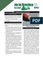 CIP 01 - Dusting Concrete Surfaces