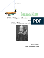 Plan Lectie w.shakespeare