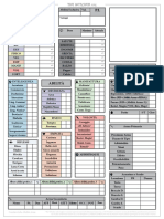 Witcher Character Sheet Printer Friendly
