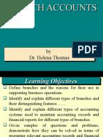 Branch Accounts  - Dependent Branch