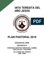 Plan Pastoral Del Coro Santa Teresita 2019
