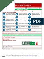 Safe Operating Procedure Template