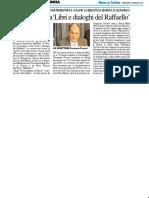 """Fioretti ospite a """"Libri e dialoghi del Raffaello"""" - Il Resto del Carlino del 23 gennaio 2019"""