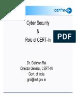 Rai Role of Cert in Sept 09