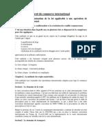 Resume Droit Du Commerce International 1