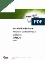 Instalallation Manual Controller KZ 700 U H VSA