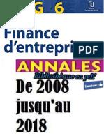 DCG 6 Finance d'Entreprise Annales 2008 Jusqu'Au 2018