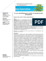 In-vitro anti-inflammatory activity of oral poly herbal formulations
