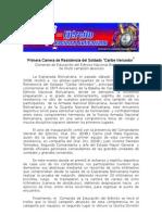 """Primera Carrera de Resistencia del Soldado """"Caribe Vencedor"""""""
