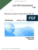 Manual de Usuario Honda Storm Sdh125