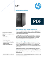 HP Proliant ML150 Gen9 Datasheet