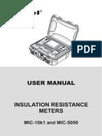 MIC-10K1 Insulation Tester
