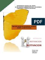 Recopilación de Diversas Teorías Sobre La Motivación