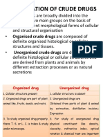 Classification of Crude Drugs