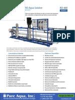 Sistema Osmosis Inversa de Agua Salobre Serie Bwro 400