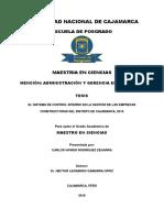El Sistema de Control Interno en La Gestión de Las Empresas Constructoras Del Distrito de Cajamar