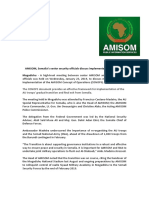 AMISOM, Somalia's Senior Security Officials Discuss Implementation of CONOPS