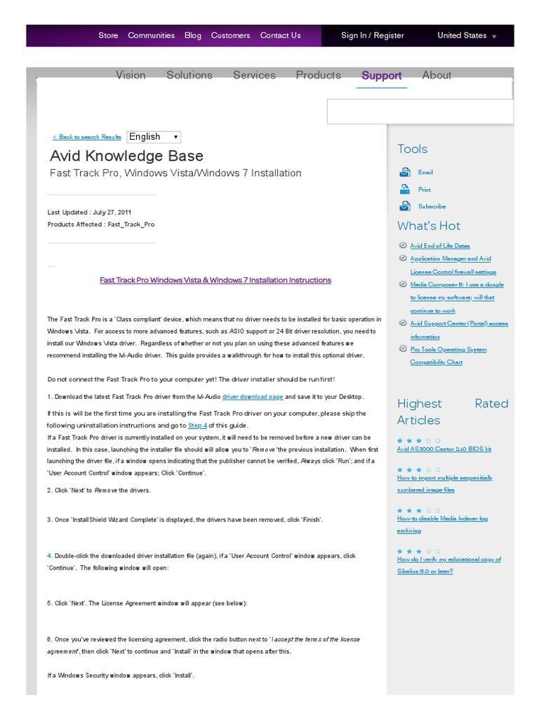Fast track pro manual | Windows Vista | Microsoft Windows