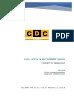 Cdc-ip 16038 Tdr-002 Evacuacion de Escorrentía Pluvial