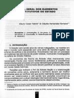 FABRIZ, D. C.; FERREIRA, C. F. Teorial Geral Dos Elementos Constitutivos Do Estado
