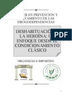 01. Deshabituacon a Heroina Enfoque Clásico y Efecto de Las Drogas
