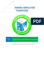 Fauquier County Public Schools employee turnover report fiscal 2018