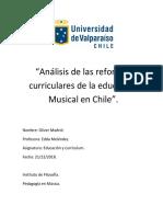 Análisis de Las Reformas Curriculares de La Educación Musical en Chile