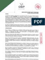 Resolución del TSE sobre las elecciones primarias
