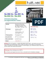 HSTT Refillanleitung Für HP No.950 No.951 - Officejet Pro 8100 8600 EPrinter Serie
