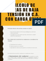 calculos en lineas de baja tension
