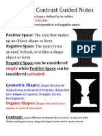 shape and contrast  guided notes