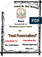 Food preservatives class 12th project