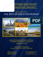 Staff Analysis of the FY2020 Executive Budget - The Blue Book