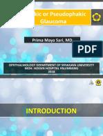Pseudo Aphakic Glaucoma