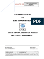 Sap Qm Business Blueprint Sample