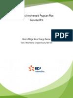 Morris Ridge Solar Energy Center Public Involvement Program Plan