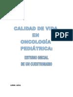 Calidad de Vida en Oncologia Pediatrica