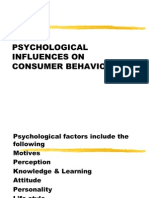 Psychological Influences on Consumer Behaviour