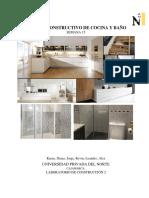 Informe Construcción Cocina - Baño