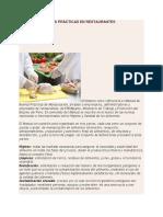 Manual de Buenas Practicas en Restaurantes