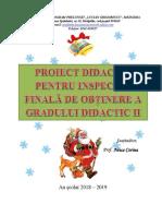 Proiect Inspecție Finală Gradul II